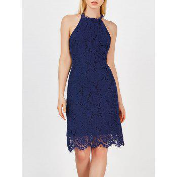 Cut Out Trim Lace Dress