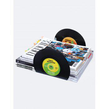 Set of 2 Record Design Vinyl Bookends