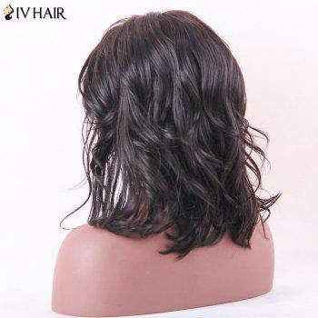 Siv Hair Medium Body Wave Middle Part Lace Frontal Human Hair Wig - NATURAL COLOR 14INCH
