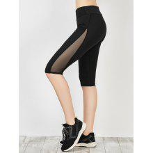 Capri Mesh Panel Running Leggings
