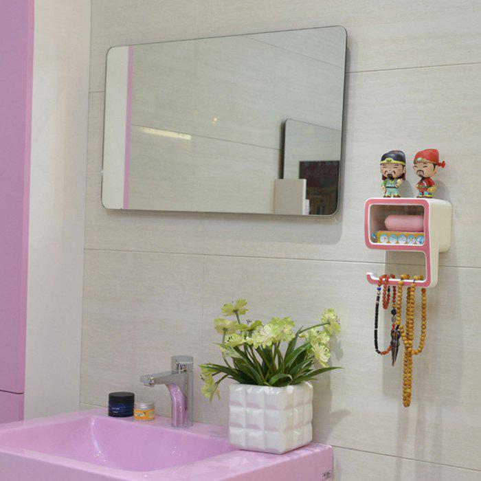 Creative Number Shape Bath Wall Shelf - PINK