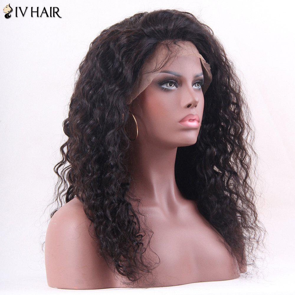 Siv Hair Long Deep Wave Hairstyle Shaggy Lace Front Human Hair Wig - NATURAL COLOR 20INCH