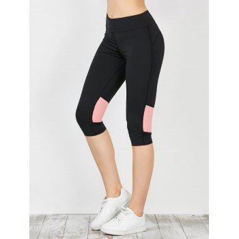 Two Tone Workout Capri Leggings