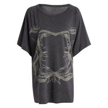 Plus Size Graphic Tunic T-Shirt