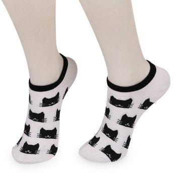 Cartoon Cats Ankle Socks