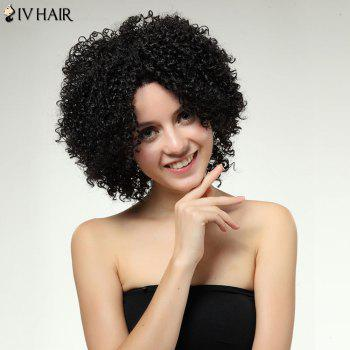 Siv Hair Kinky Curly Dyeable Medium Lace Front Human Hair Wig