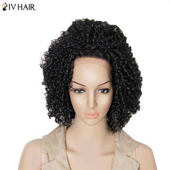 Siv Hair Medium Kinky Curly Dyeable Human Hair Lace Front Wig