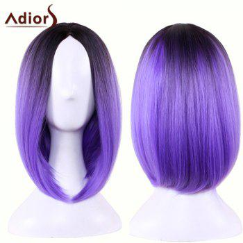 Adiors Medium Straight Middle Part Gradient Bob Cosplay Lolita Wig