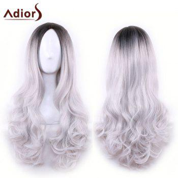 Adiors Long Centre Parting Ombre Wavy Synthetic Cosplay Lolita Wig