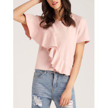 Cropped Ruffle Layer Tee