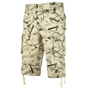 Allover Signpost Show Cargo Shorts