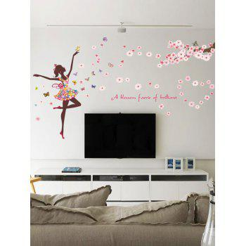 A Blossom Faerie of Brilliant Pvc Wall Sticker