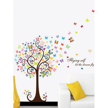 Let Dream Fly Artistical Butterfly Tree Wall Sticker