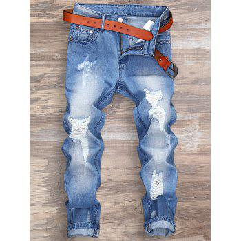 Ripped Zipper Fly Nine Minutes of Jeans