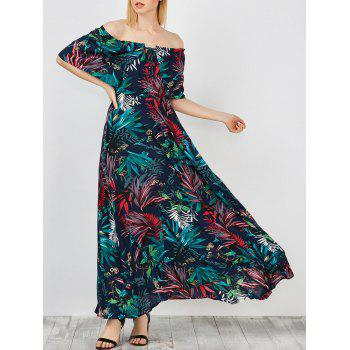 Off The Shoulder Maxi Capelet dress