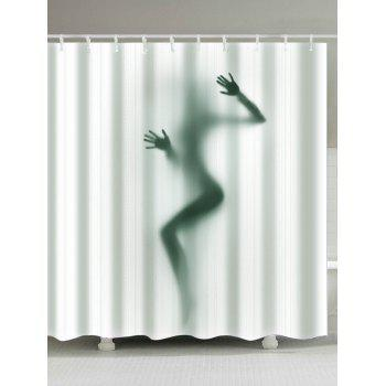 Art Female Shadow 3D Shower Curtain