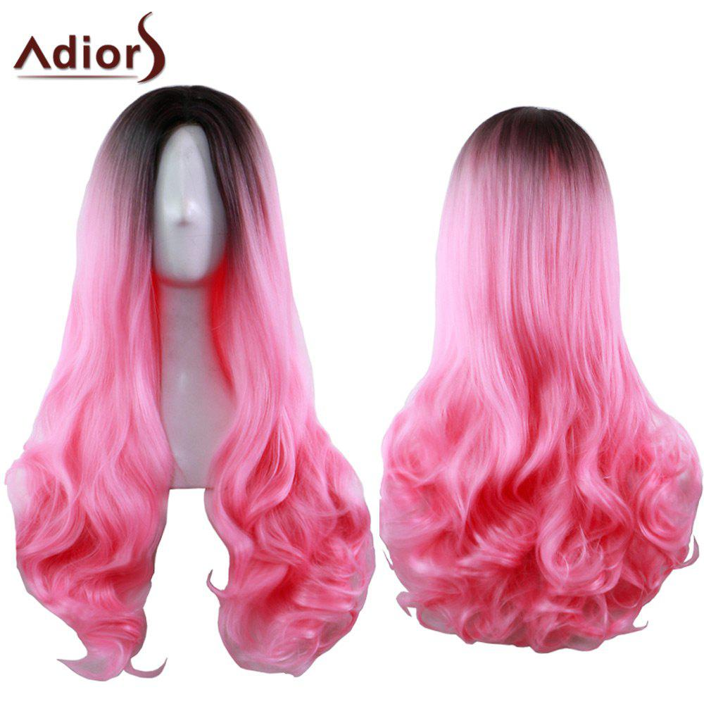 Adiors Long Centre Parting Ombre Wavy Synthetic Cosplay Lolita Wig centre speaker
