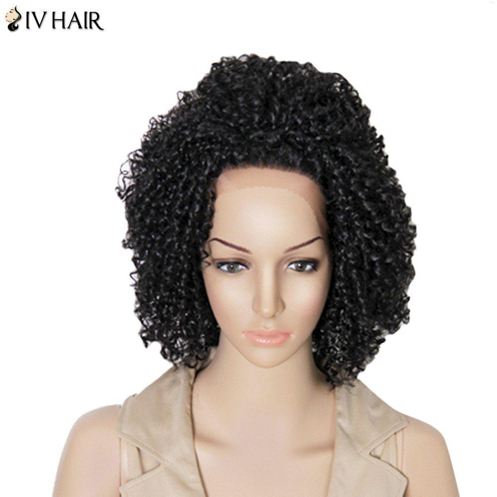 Siv Hair Medium Kinky Curly Dyeable Human Hair Lace Front Wig kinky curly medium middle parting lace front human hair wig