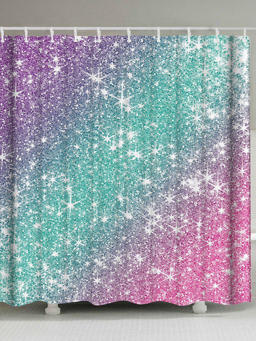 Purple And Teal Shower Curtain. Ombre Shimmer Background Shower Curtain  COLORMIX W59 INCH L71 2018 W L