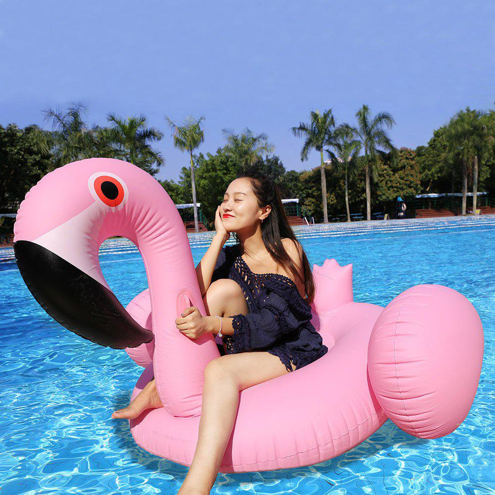 Inflatable PVC Flamingo Floating Row - PINK
