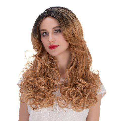 Multi Long Wavy Side Parting Perruque synthétique - multicolore