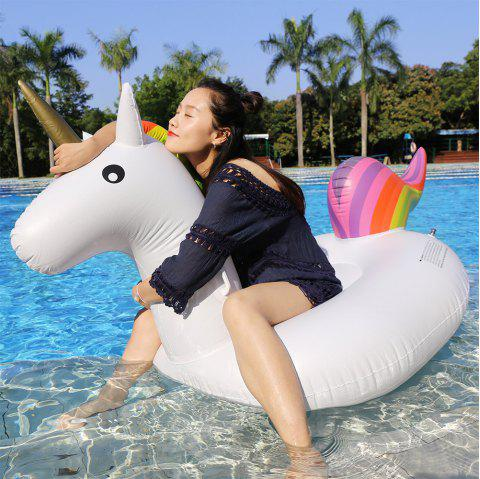 PVC gonflable Unicorn Floating Row - Blanc