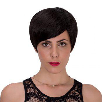 Oblique Bang Adiors Spiffy Short Straight Bob Synthetic Wig