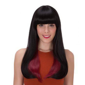 Stunning Straight Long Black Ombre Wine Red Synthetic Adiors Wig For Women