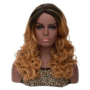 Women's Long Side Parting Curly Mixed Color Fashion Synthetic Hair Wig