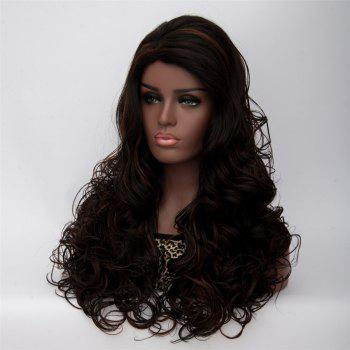 Women's Long Side Parting Curly Black Brown Fashion Synthetic Hair Wig