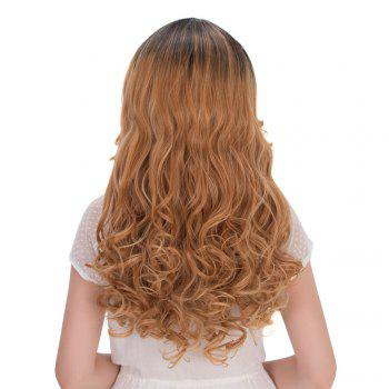 Multi Long Wavy Side Parting Synthetic Wig - COLORMIX