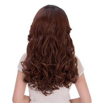 Faddish Long Multi Wavy Side Parting Synthetic Wig - COLORMIX