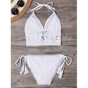 Halter Unlined Crochet Bikini