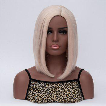 Medium Natural Straight Side Parting Synthetic Wig