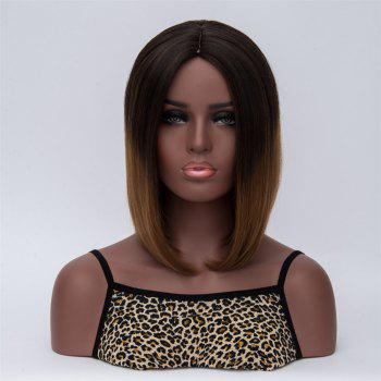Medium Natural Straight Middle Part Synthetic Wig