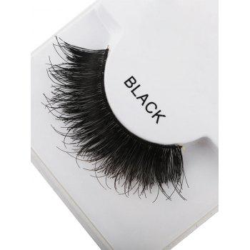 1 Pair Dense Fake Eyelashes -  BLACK