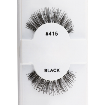 1 Pair Natural False Eyelashes - BLACK