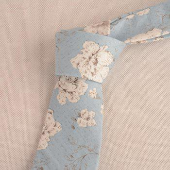 Flowers Printing Neck Tie -  BLUE