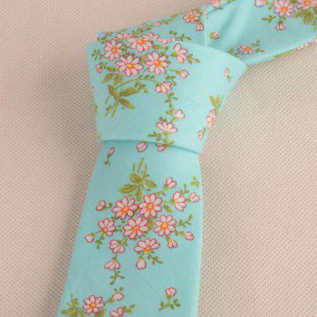Floral Blossom Printing Neck Tie - CLOUDY