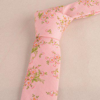 Floral Blossom Printing Neck Tie - LIGHT PINK