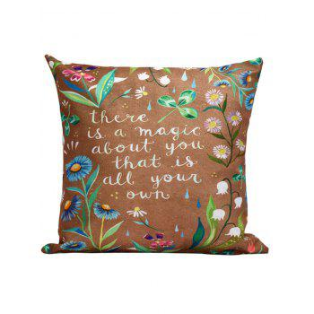 Flowers Letter Cushion Throw Pillow Case