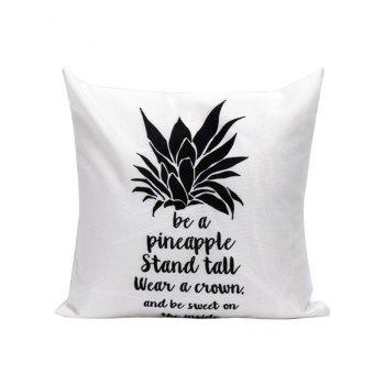 Pineapple Letter Printed Throw Pillow Case