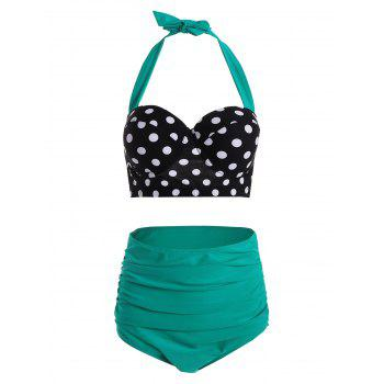 Polka Dot High Waist Plus Size Push Up Bikini