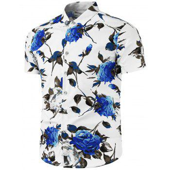 Short Sleeve Shirt with Floral Print