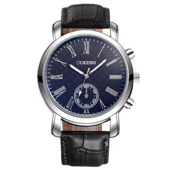 OUKESHI Faux Leather Roman Numeral Watch