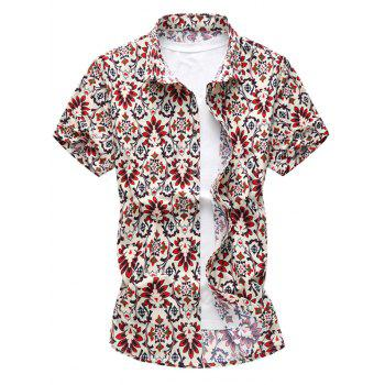 Casual Button Up Floral Shirt