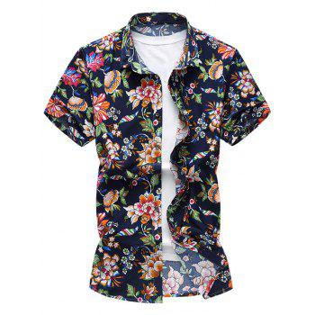 Flower Pattern Short Sleeve Shirt