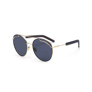 Polarizing Metallic Crossbar Sunglasses