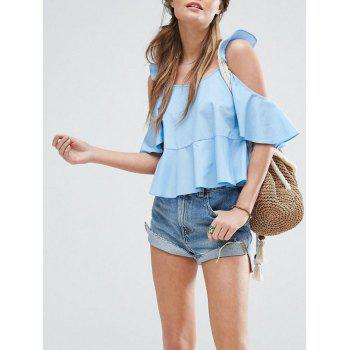Cold Shoulder Flounced Blouse