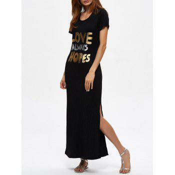 Love Always Hopes Slit Long Jumper Dress